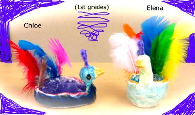 elena chloe clay peacocks