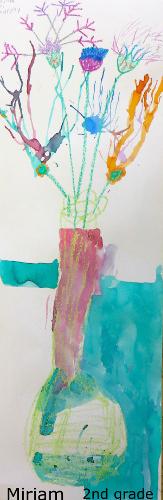 Miriam vase flowers