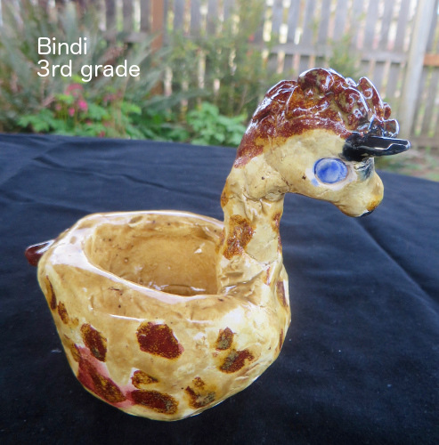 Bindi clay giraffe for WS